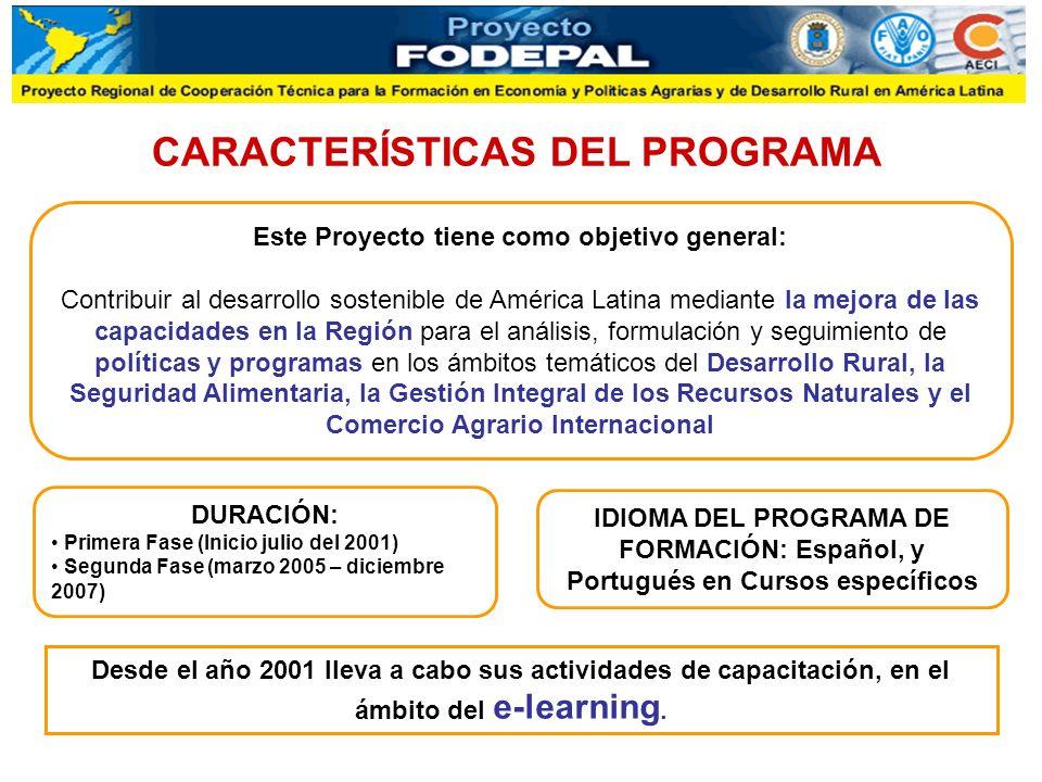 Desde el año 2001 lleva a cabo sus actividades de capacitación, en el ámbito del e-learning. CARACTERÍSTICAS DEL PROGRAMA Este Proyecto tiene como obj