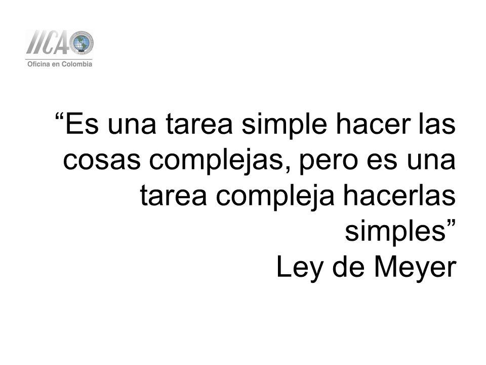 Es una tarea simple hacer las cosas complejas, pero es una tarea compleja hacerlas simples Ley de Meyer