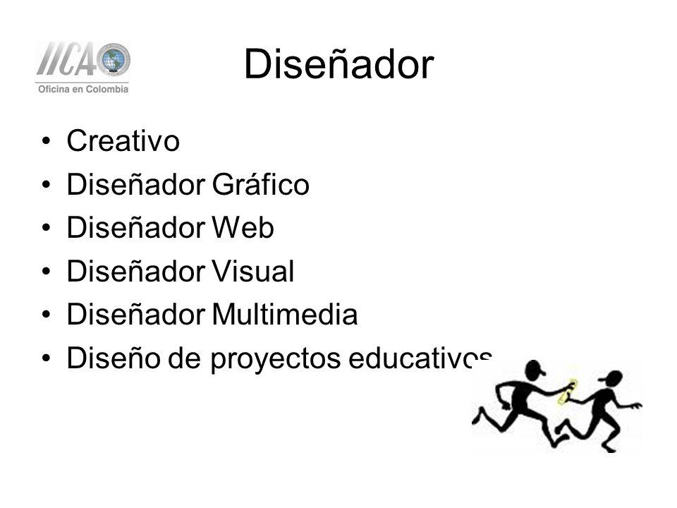 Diseñador Creativo Diseñador Gráfico Diseñador Web Diseñador Visual Diseñador Multimedia Diseño de proyectos educativos