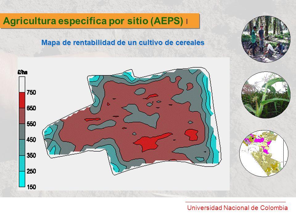 Universidad Nacional de Colombia Agricultura especifica por sitio (AEPS) I Mapa de rentabilidad de un cultivo de cereales