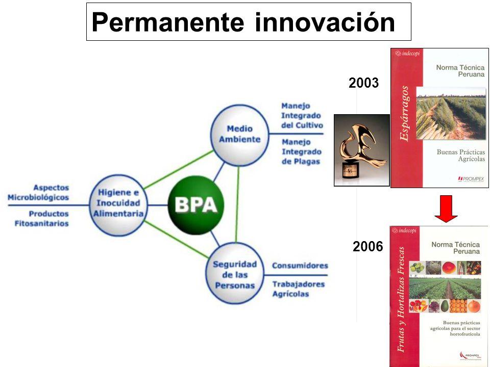 2003 2006 Permanente innovación