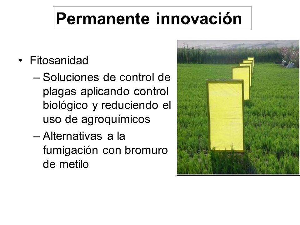 Fitosanidad –Soluciones de control de plagas aplicando control biológico y reduciendo el uso de agroquímicos –Alternativas a la fumigación con bromuro