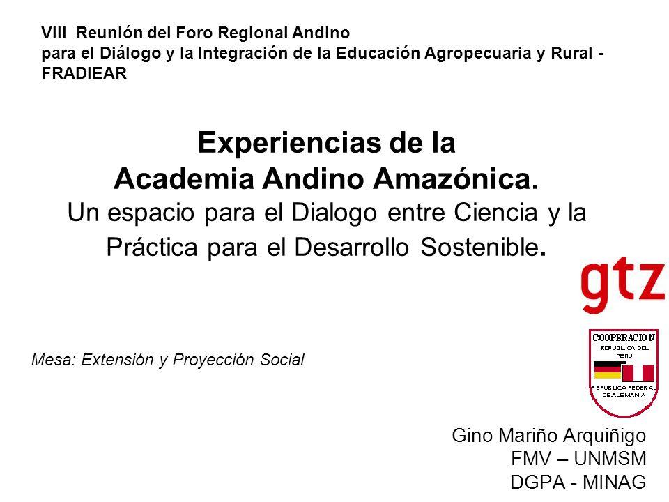 Experiencias de la Academia Andino Amazónica.