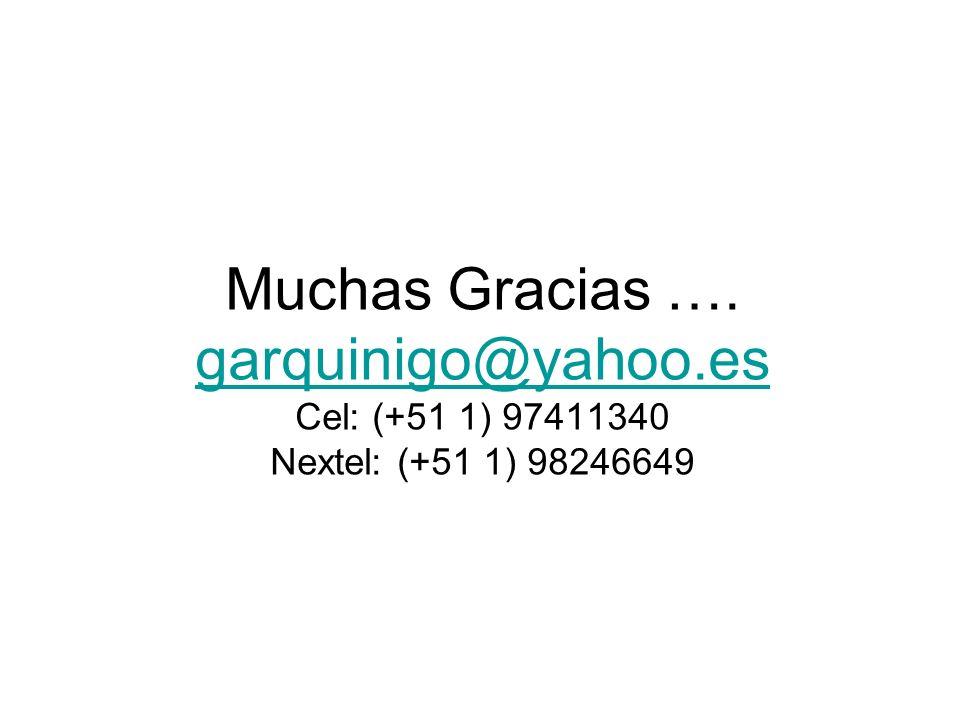 Muchas Gracias ….