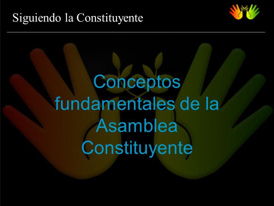 Siguiendo la Constituyente Conceptos fundamentales de la Asamblea Constituyente