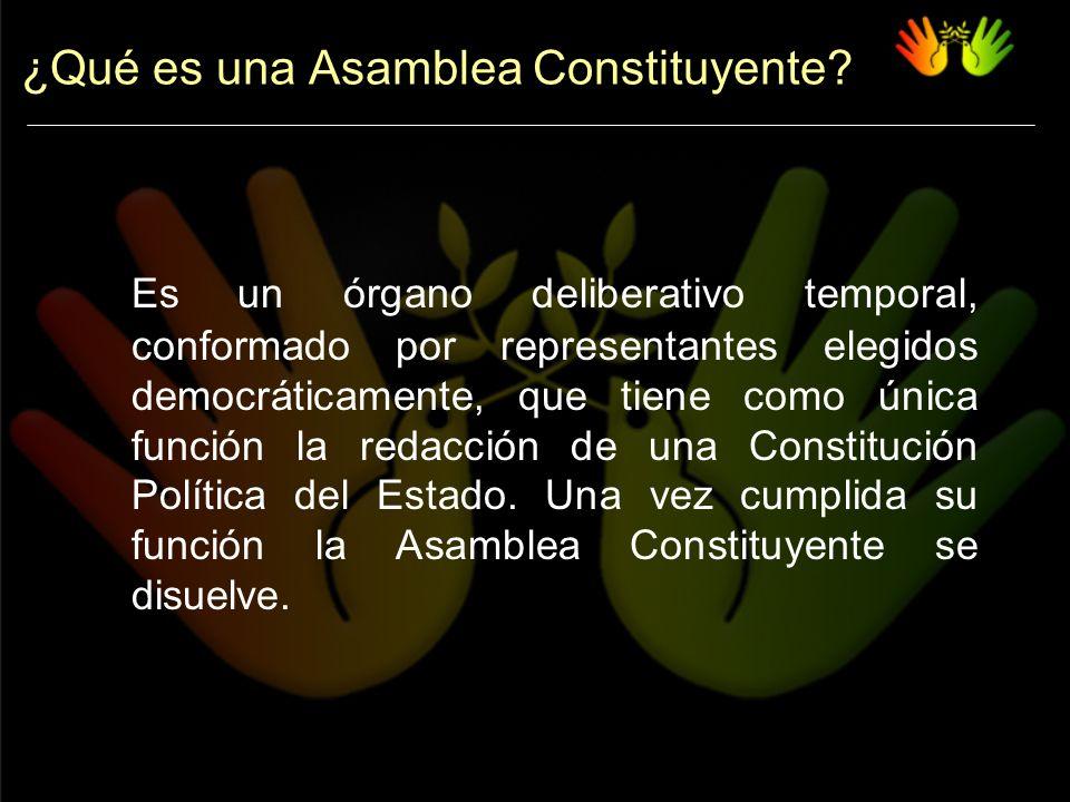 ¿Qué es una Asamblea Constituyente.