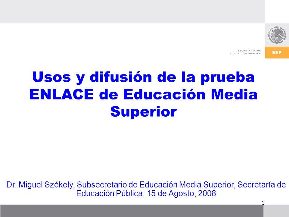 2 Proyecto ENLACE EMS 2008-2010 Competencias Genéricas + Competencias Disciplinares Básicas Perfil del Egresado Objetivo EMS InicioFinal EMS Ganancia en aprendizaje por escuela por alumno por subsistema por entidad Contexto