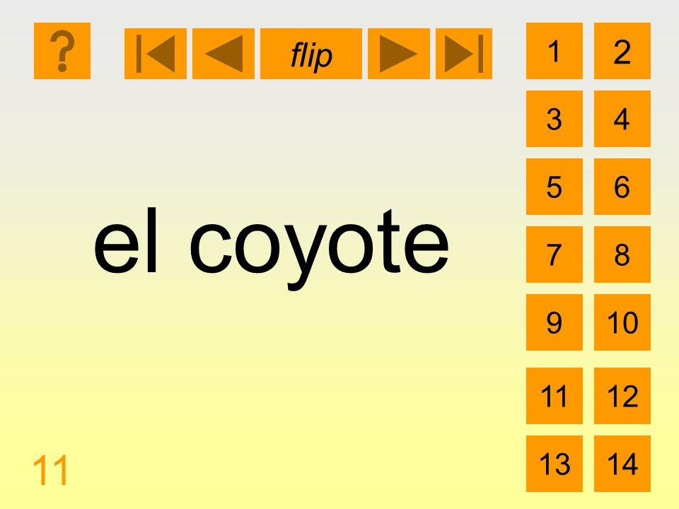1 3 2 4 5 7 6 8 910 1112 1314 flip 11 el coyote