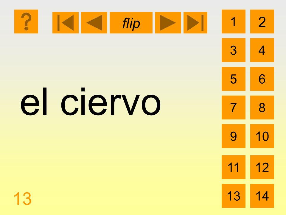 1 3 2 4 5 7 6 8 910 1112 1314 flip 13 el ciervo