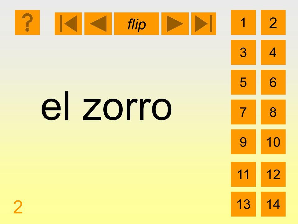 1 3 2 4 5 7 6 8 910 1112 1314 flip 2 el zorro