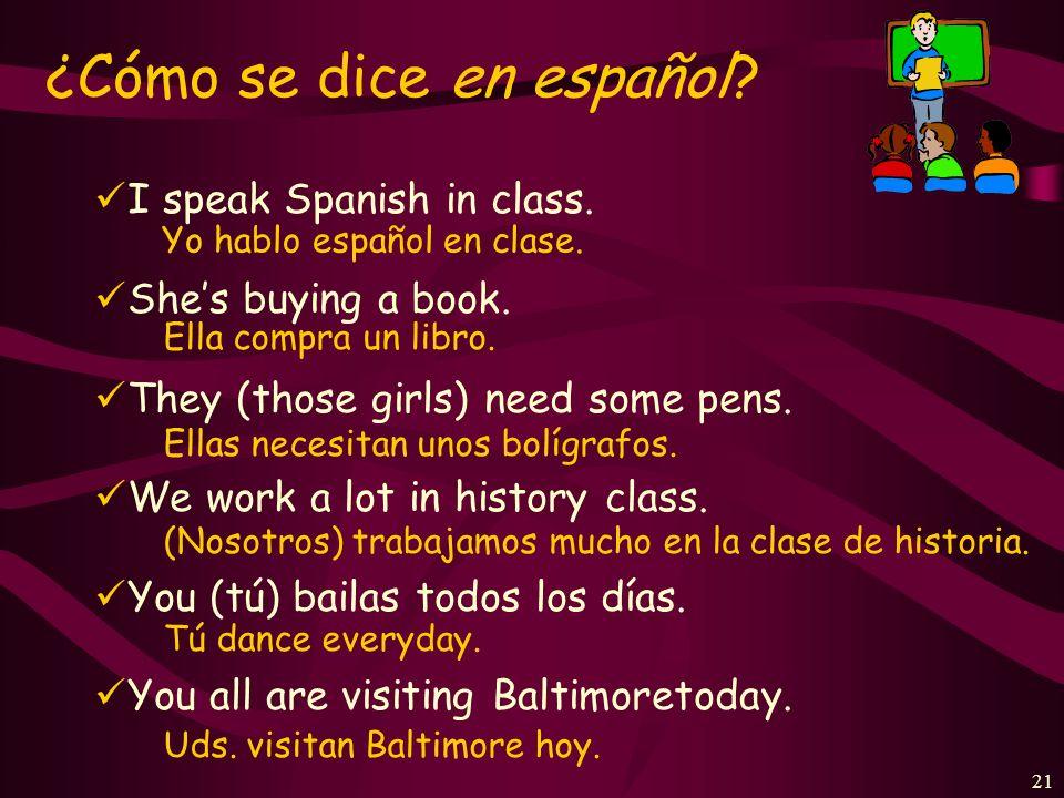 20 ¿Cuál es la forma correcta? los profesores de inglés tocan Ud. toca tocar