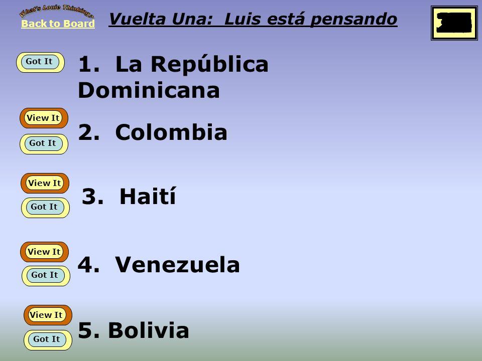 Regresa Empieza Vuelta Una Luis está pensando en… Países