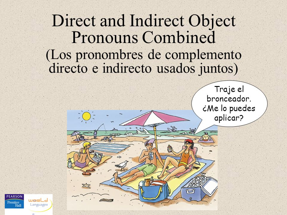 As with all object pronouns, double object pronouns are placed before a conjugated verb, and the indirect object pronoun (IOP) Spanish direct and indirect object pronouns may be used together in the same sentence just as in English.