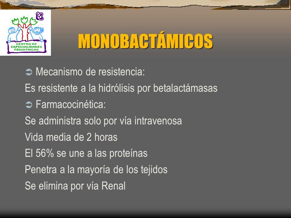 ESTRUCTURA MONOBACTAMICOS: 1. Aztreonam