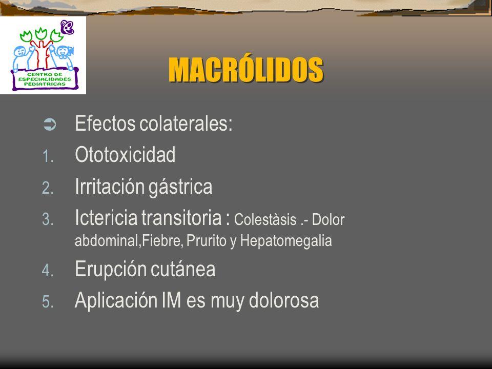 MACRÓLIDOS Mecanismo de resistencia : 1. Por alteración de la permeabilidad de la pared bacteriana ( Cierre de porinas ) 2. Plàsmidos (modificación de