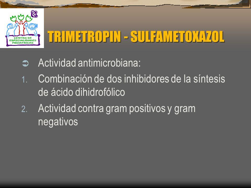 CLORANFENICOL Toxicidad: 1. Síndrome de Niño gris 2. Daño hematológico 3. Mielosupresión 4. Trombocitopenia 5. Neuritis óptica 6. Neurotoxicidad