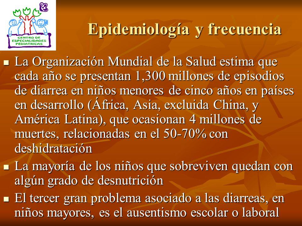 Los agentes etiológicos más frecuentes son, en orden decreciente, virus, bacterias y parásitos.