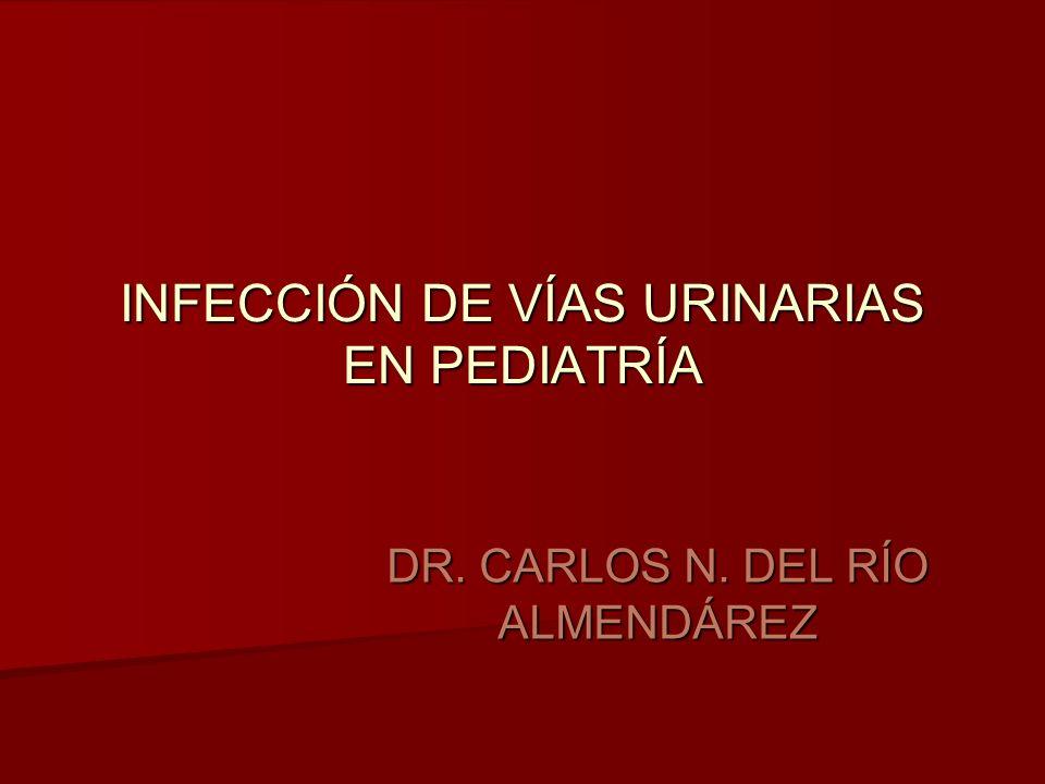 INFECCIÓN DE VÍAS URINARIAS EN PEDIATRÍA DR. CARLOS N. DEL RÍO ALMENDÁREZ