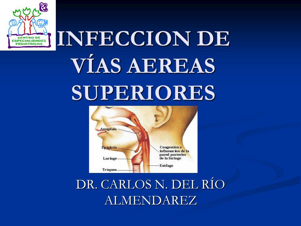 INFECCION DE VÍAS AEREAS SUPERIORES DR. CARLOS N. DEL RÍO ALMENDAREZ