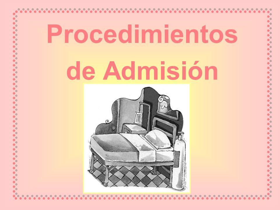 Procedimientos de Admisión