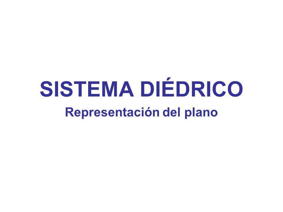 SISTEMA DIÉDRICO Representación del plano