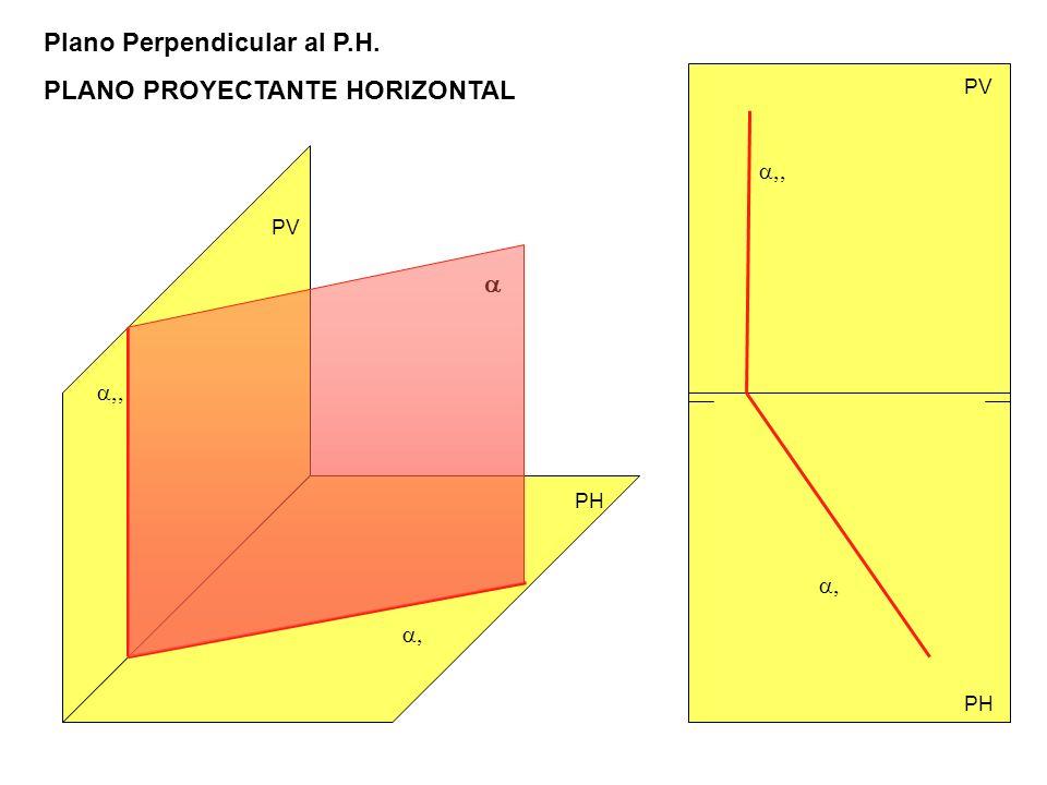 Plano Perpendicular al P.H. PLANO PROYECTANTE HORIZONTAL PV PH PV