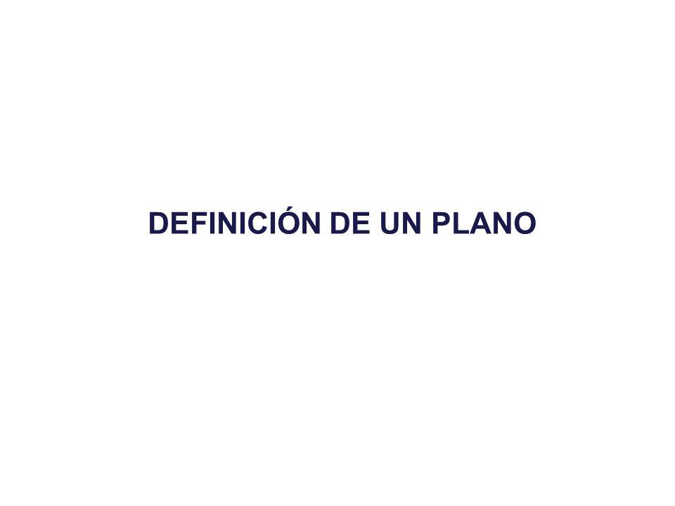 DEFINICIÓN DE UN PLANO