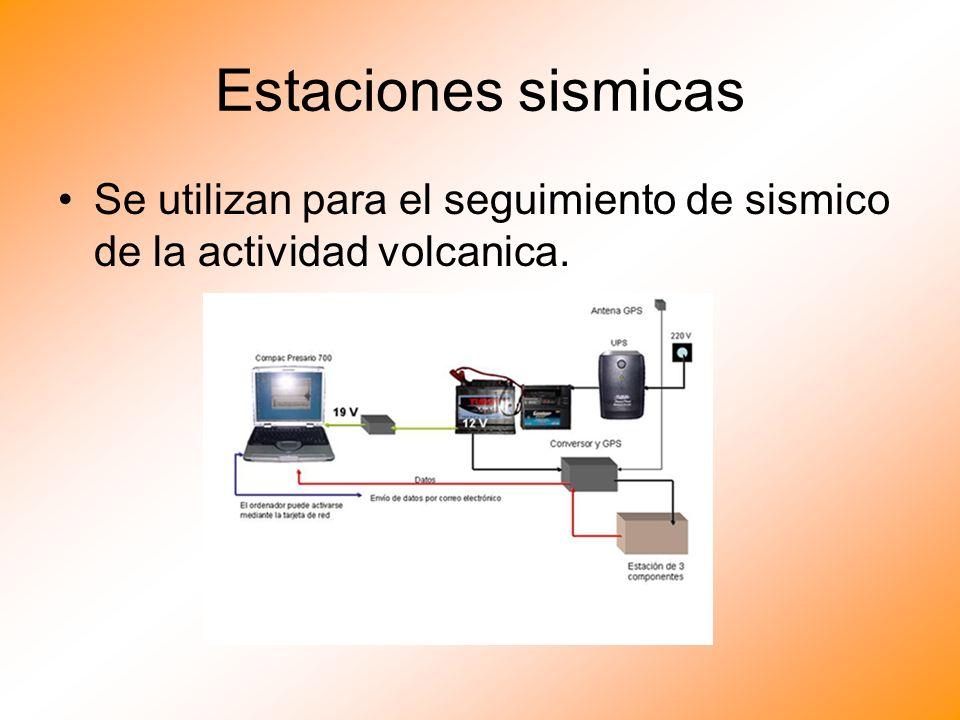 Estaciones sismicas Se utilizan para el seguimiento de sismico de la actividad volcanica.