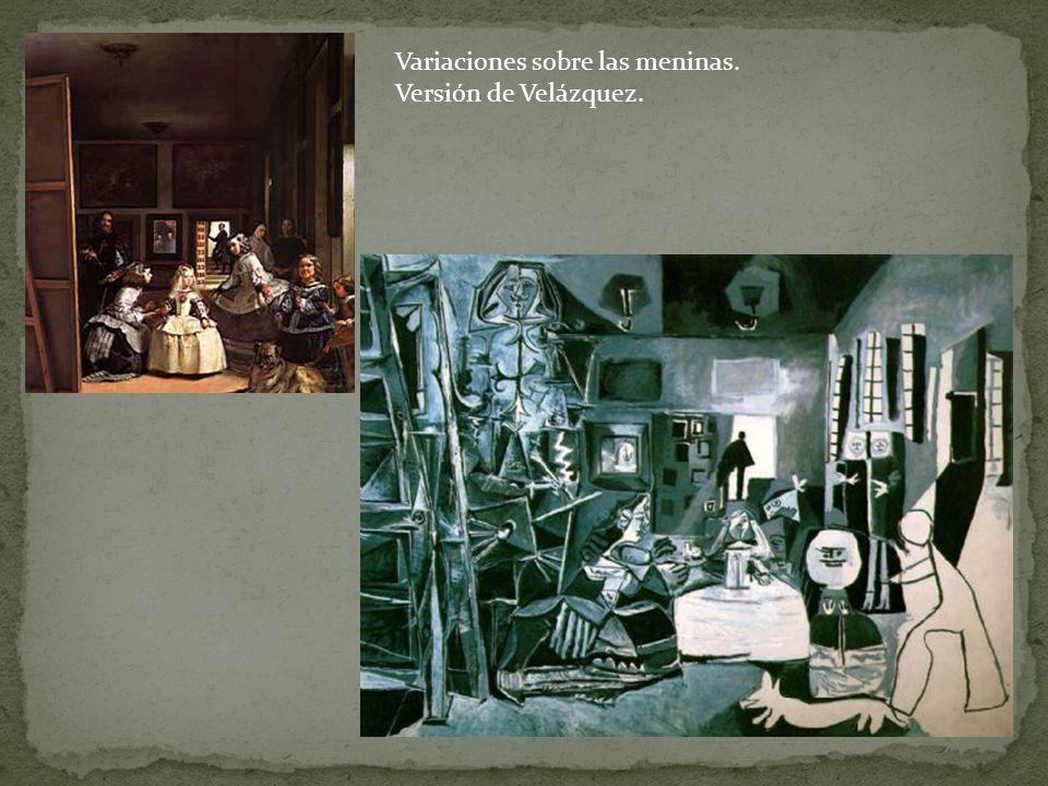 Variaciones sobre las meninas. Versión de Velázquez.