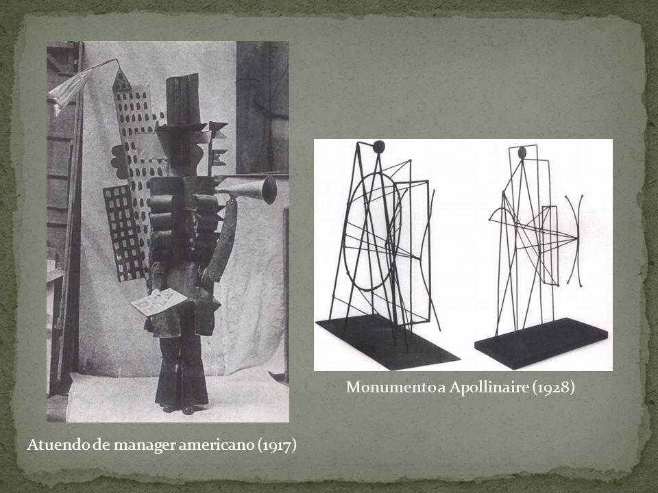 Atuendo de manager americano (1917) Monumento a Apollinaire (1928)