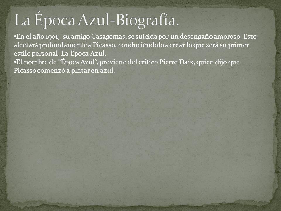 El nombre de Época Azul, proviene del crítico Pierre Daix, quien dijo que Picasso comenzó a pintar en azul.