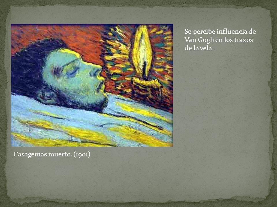 Casagemas muerto. (1901) Se percibe influencia de Van Gogh en los trazos de la vela.