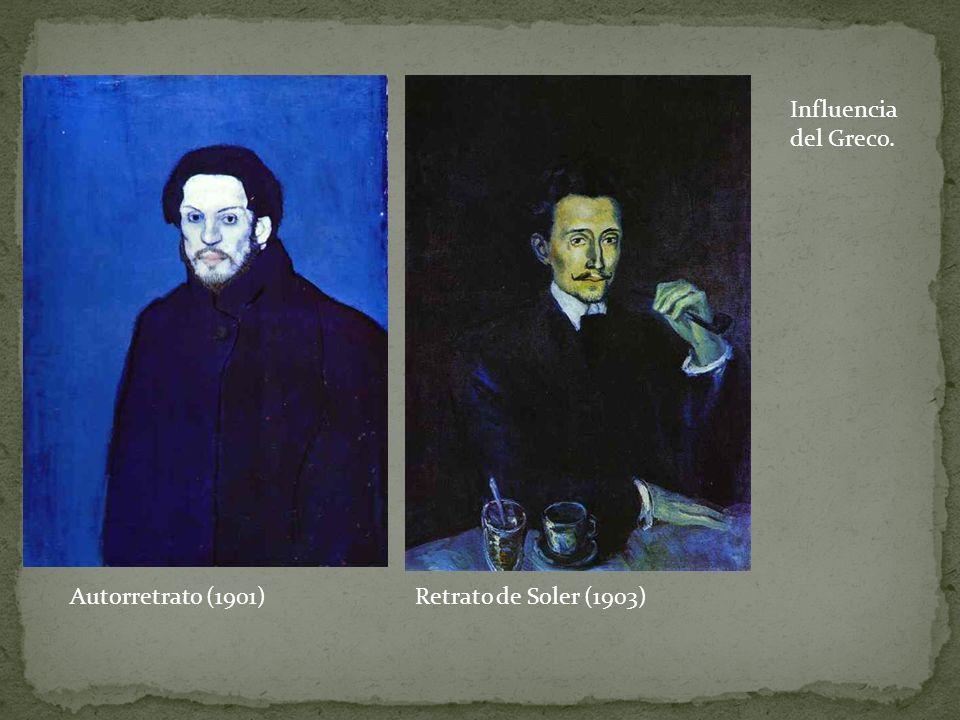 Autorretrato (1901)Retrato de Soler (1903) Influencia del Greco.