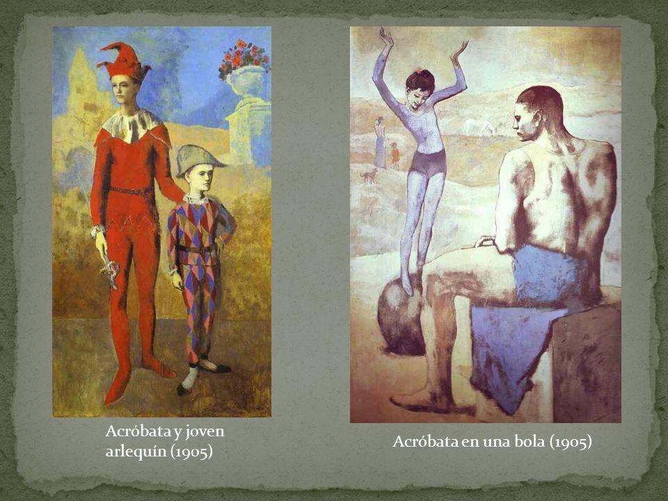 Acróbata y joven arlequín (1905) Acróbata en una bola (1905)