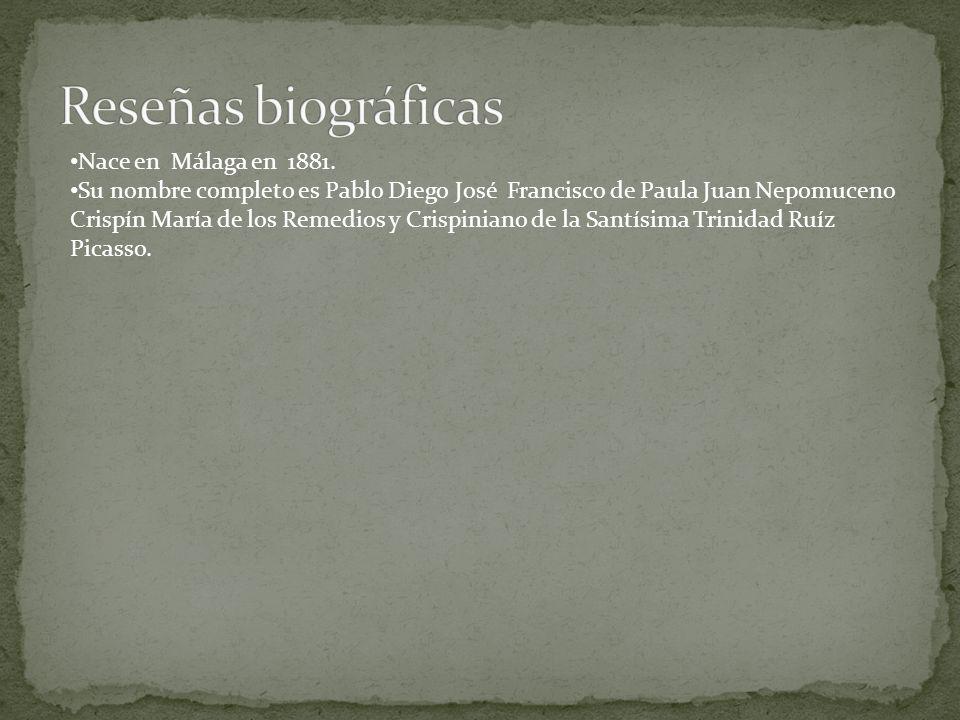 Su nombre completo es Pablo Diego José Francisco de Paula Juan Nepomuceno Crispín María de los Remedios y Crispiniano de la Santísima Trinidad Ruíz Pi