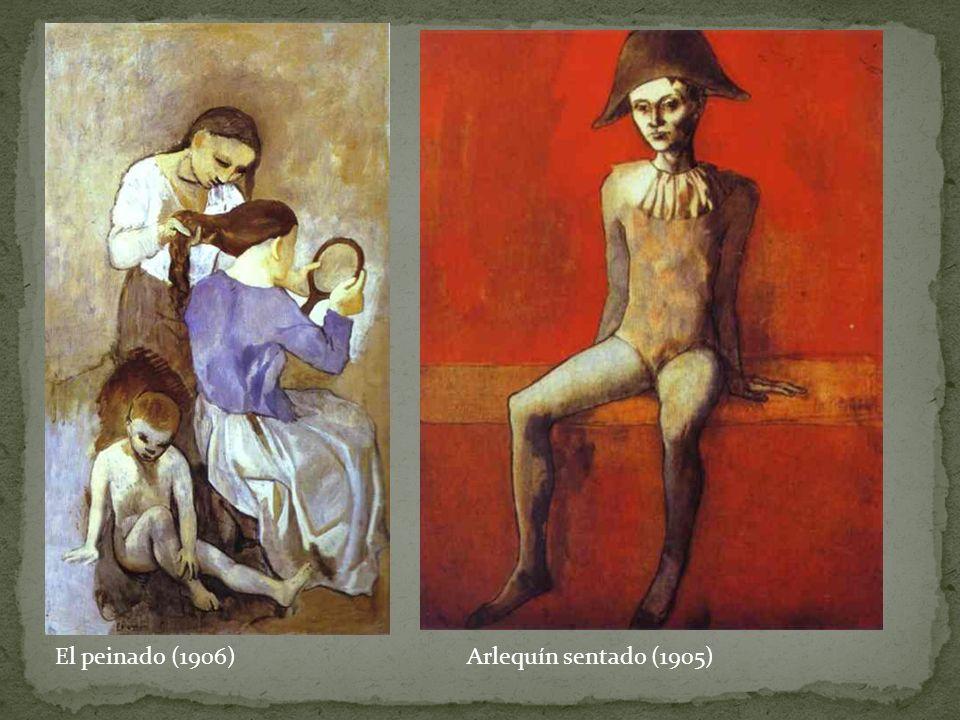 El peinado (1906)Arlequín sentado (1905)
