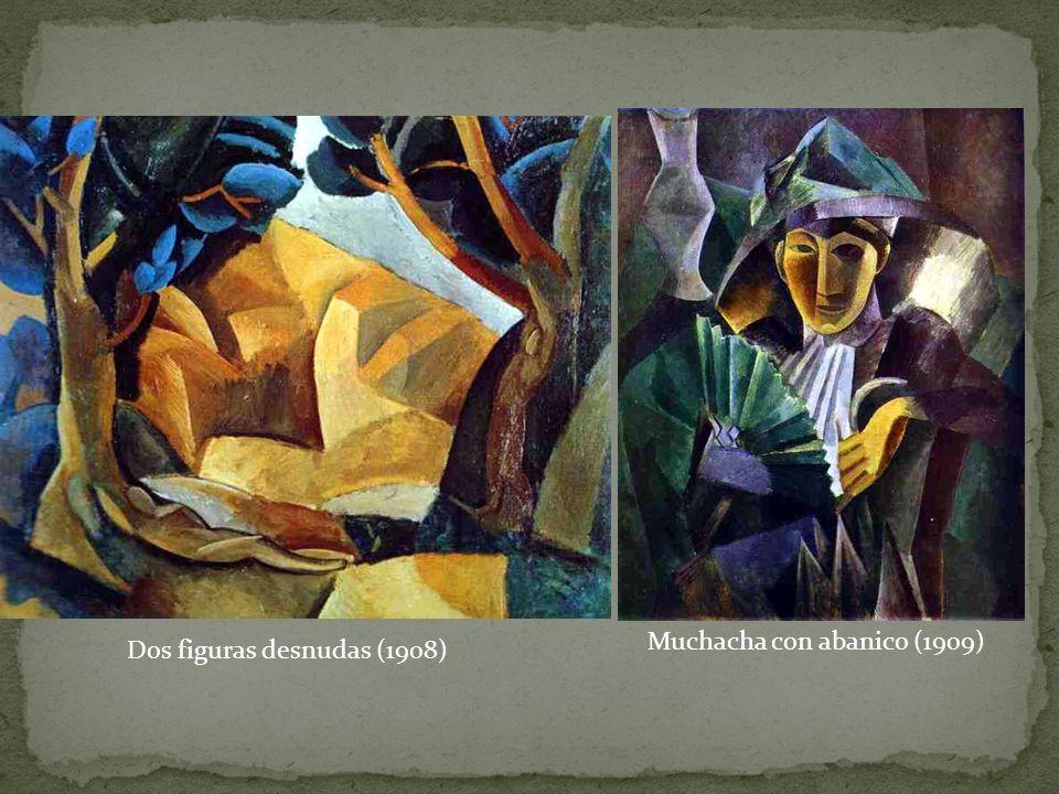 Muchacha con abanico (1909) Dos figuras desnudas (1908)