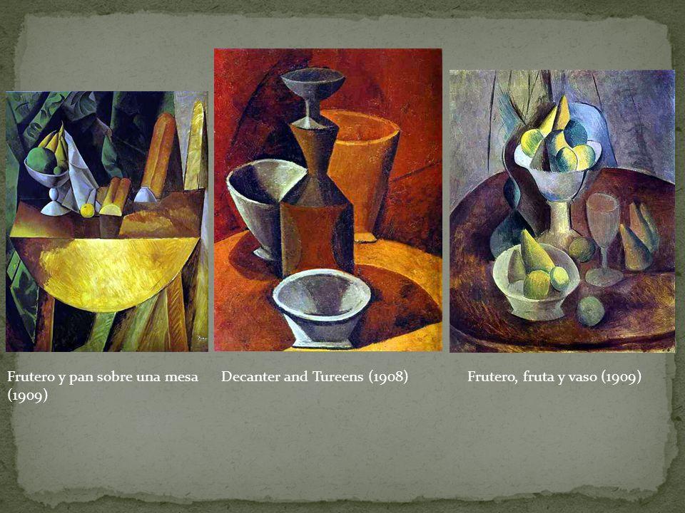 Frutero y pan sobre una mesa (1909) Decanter and Tureens (1908)Frutero, fruta y vaso (1909)