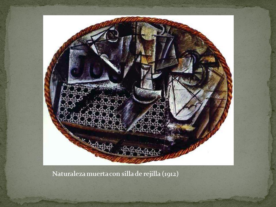 Naturaleza muerta con silla de rejilla (1912)