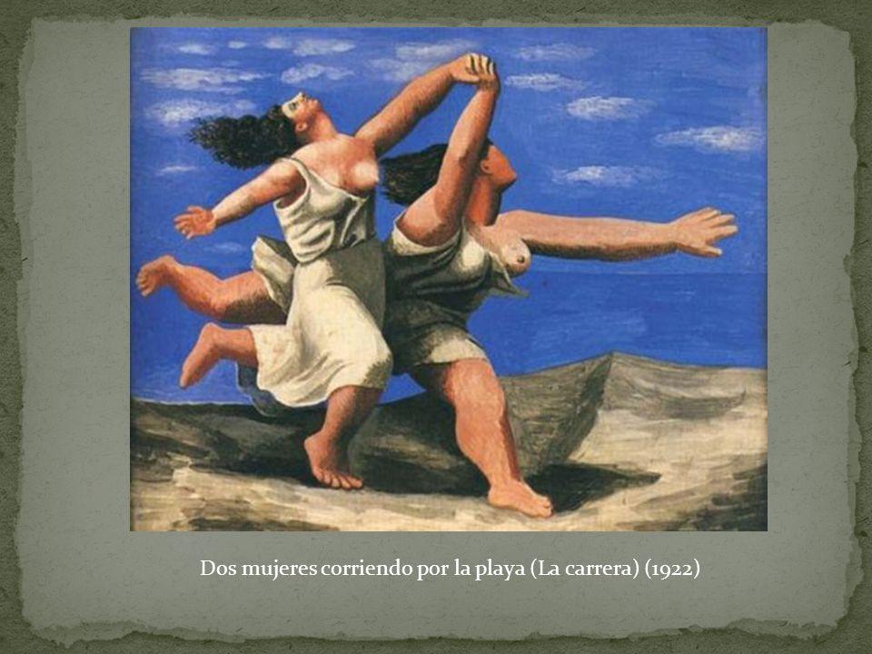Dos mujeres corriendo por la playa (La carrera) (1922)
