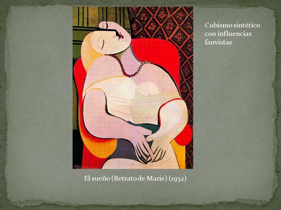 El sueño (Retrato de Marie) (1932) Cubismo sintético con influencias fauvistas