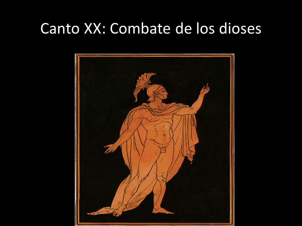 Canto XX: Combate de los dioses