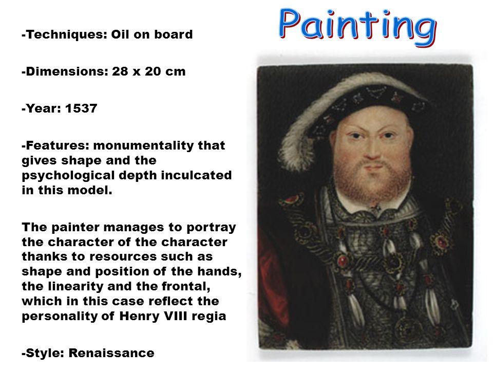 Autor:Hans Hobein, El joven.Año de nacimiento:1495-1543.Nació en Augsburgo Estílo:Renacentista.