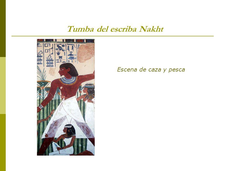 Tumba del escriba Nakht Escena de caza y pesca