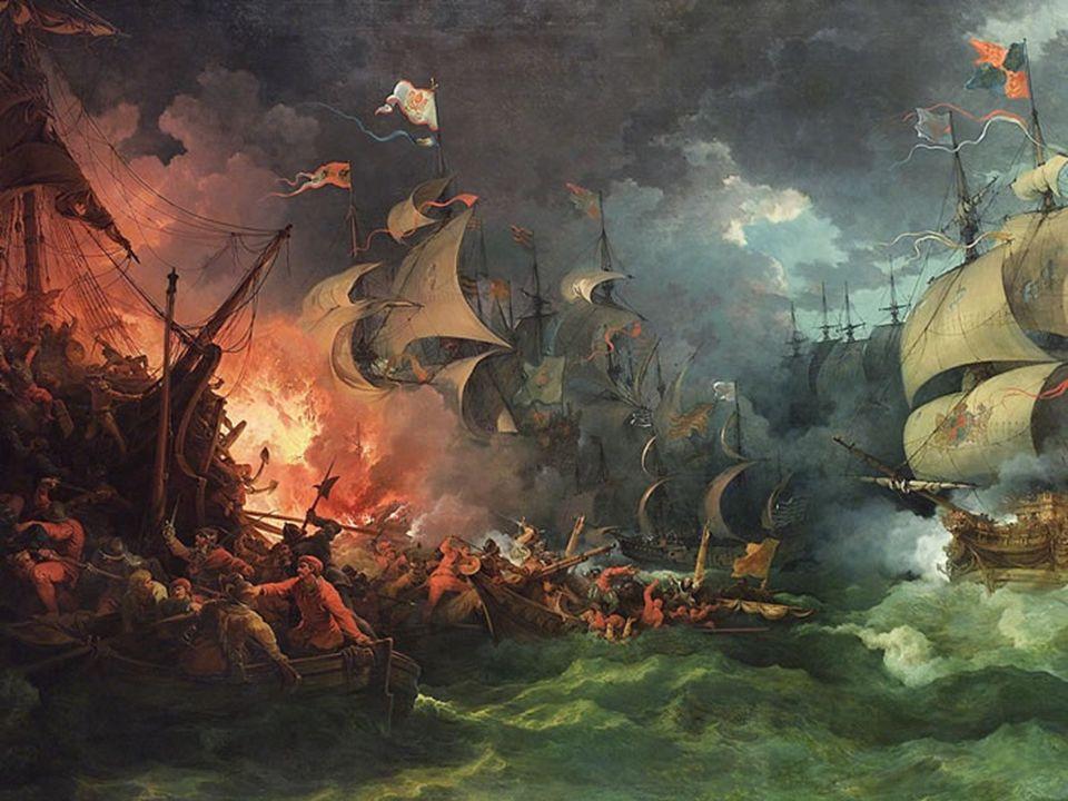 ANÁLISIS Soporte: lienzo Técnica: óleo sobre tela Composición: puntos de fuga y destaca el color rojo del fuego, mostrando la guerra, que es lo que intenta plasmar el cuadro.