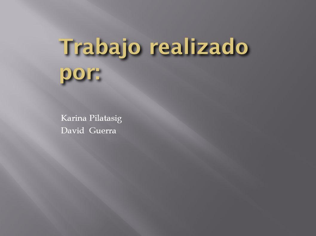 Trabajo realizado por: Karina Pilatasig David Guerra