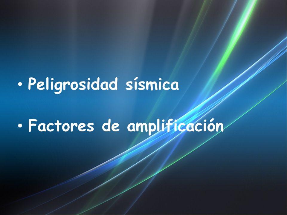 Peligrosidad sísmica Factores de amplificación