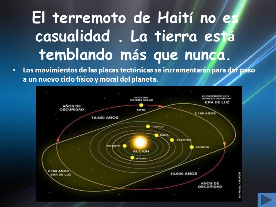 El terremoto de Hait í no es casualidad. La tierra est á temblando m á s que nunca. Los movimientos de las placas tectónicas se incrementarán para dar