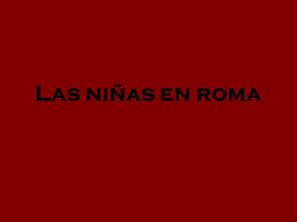 Las niñas en roma