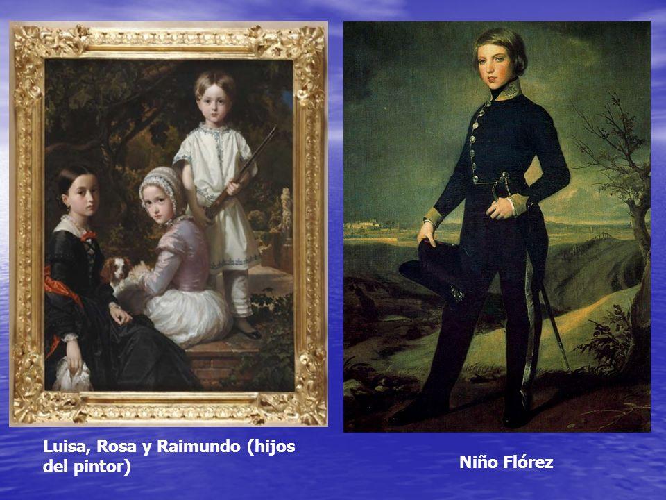 Niño Flórez Luisa, Rosa y Raimundo (hijos del pintor)
